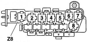 Расположение реле и предохранителей Фольксваген Пассат Б5